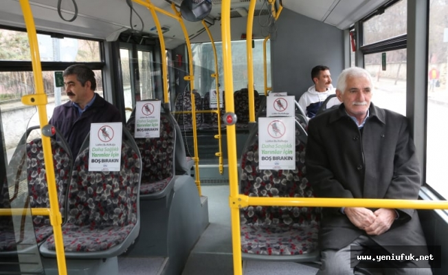 Elazığ Belediyesi Toplu Taşımada Boş Koltuk Uygulaması Başlattı