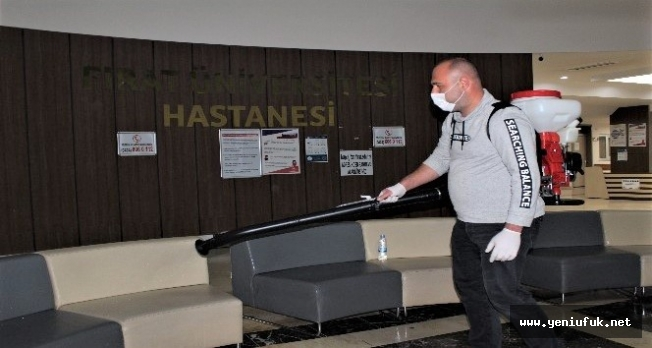 Üniversite Hastanesi'nde ilaçlama ve dezenfekte işlemi yapıldı
