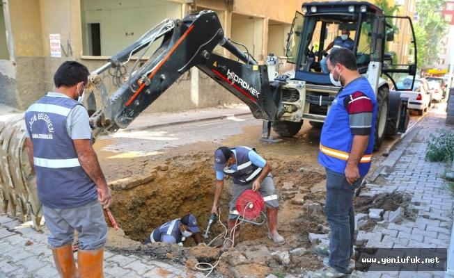 Belediye Ekipleri Su Arızalarına Hemen Müdahale Ediyor