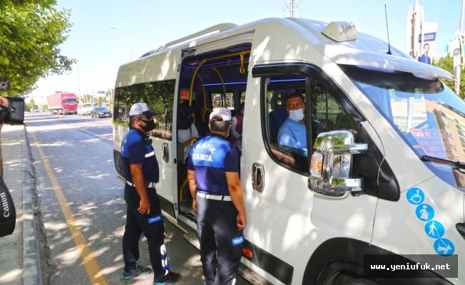 Minibüs ve Otobüslerde Koronavirüs Denetimi Yapıldı