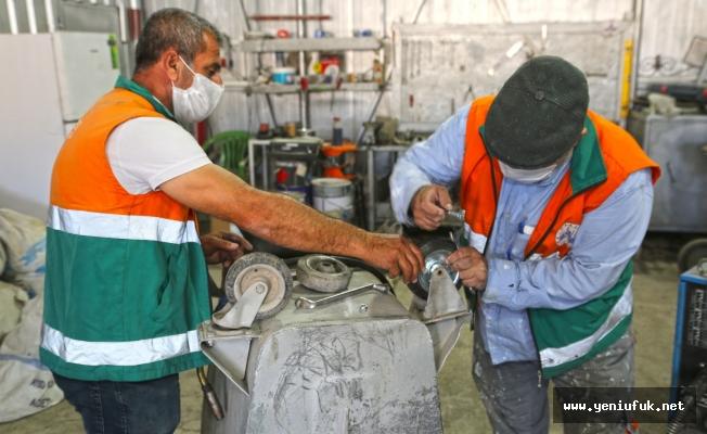 Elazığ Belediyesi, Bakım ve Onarım Çalışmalarını Kendi Atölyesinde Yapıyor