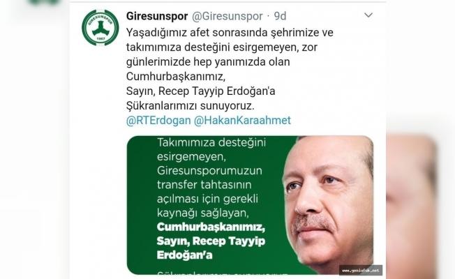 Taraftarın umudu, Cumhurbaşkanı Erdoğan!
