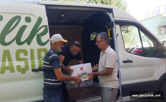İHH İnsani Yardım Derneği Tunceli'de Yardım Dağıttı