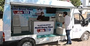 Elazığ Belediyesi Mobil Beyaz Masa Ekipleri Kırklar Mahallesi'nde