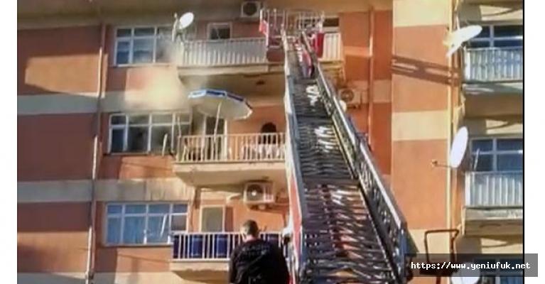 Üniversite Lojmanlarında Yangın