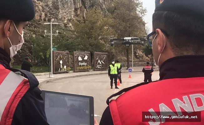 Jandarma'dan Drone Destekli Trafik Denetimi