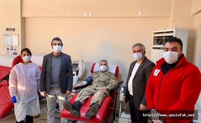Koronavirüsü yenen Jandarma personeli, immün plazma bağışında bulundu