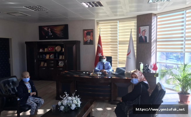 Minik Kemal'den Sağlık Müdürlüğü'ne Ziyaret