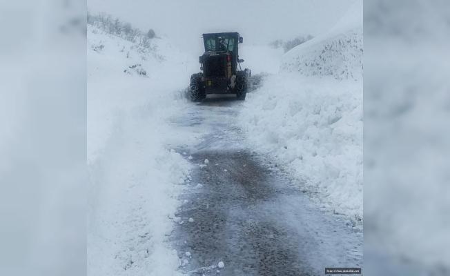 441 köy yolu ulaşıma kapandı