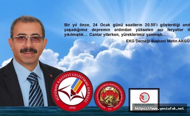 Başkan AKGÜN'den '24 Ocak Elazığ Depremi' Basın Açıklaması,