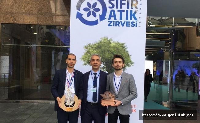 Türkiye birincisi projeye bir ödülde Akdeniz'den