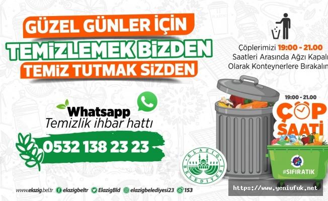 """""""WHATSAPP TEMİZLİK HATTI"""" KURULDU"""