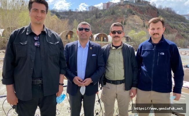 Erol Tunceli'de polis Noktaların da polisleri ziyaret etti.