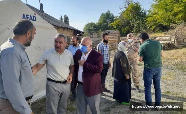 Aydın Deprem Bölgesini Ziyaret Etti