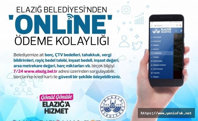 Elazığ Belediyesi'nden Online Ödeme Kolaylığı