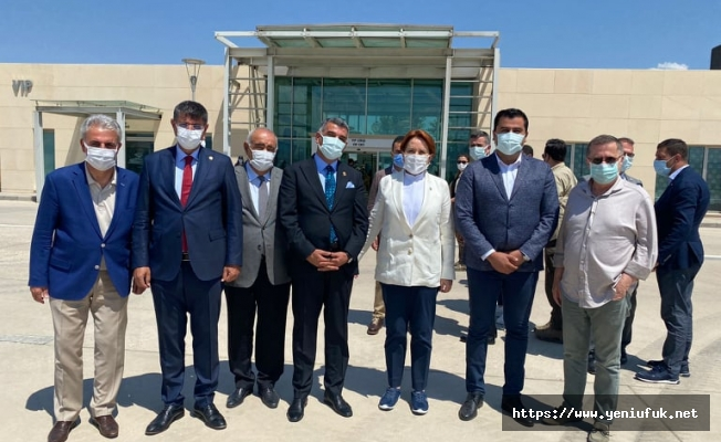 CHP heyeti Meral Akşener'i karşıladı