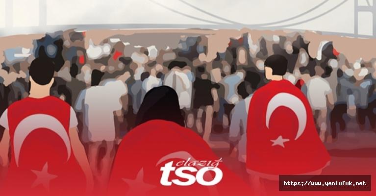 """Elazığ TSO Başkanı Arslan'dan """"15 Temmuz Demokrasi ve Milli Birlik Günü"""" mesajı"""