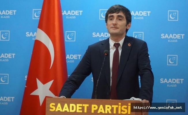 Saadet Partisi Elazığ İl Başkanı Abdullah Akın :Bayram mesjı