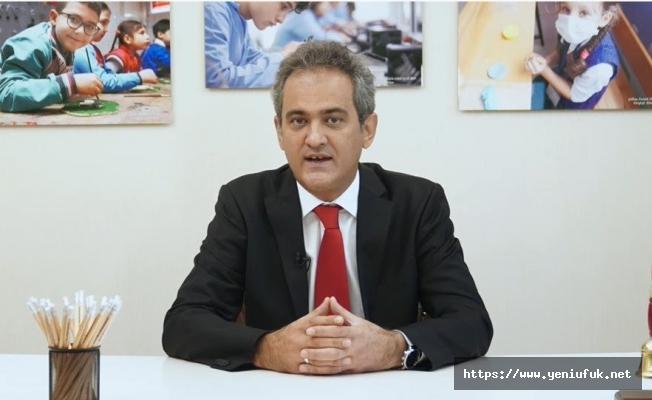 Bakanın yüz yüze eğitim açıklaması