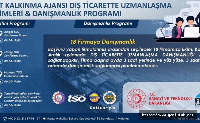 Dış Ticarette Uzmanlaşma Eğitimleri ve Danışmanlık Programı Başlıyor…