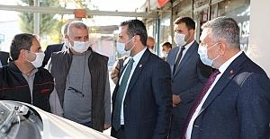 Başkan Şerifoğulları, Sanayi Sitesi Esnafını Ziyaret Etti