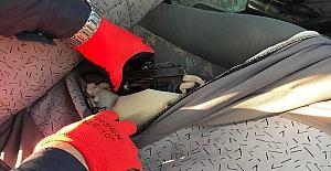 Otomobilin Koltuğuna Zulalanmış Ruhsatsız Tabanca Ele Geçirildi