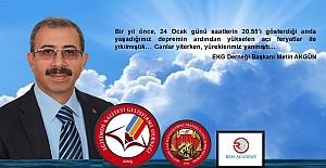 Başkan AKGÜNden 24 Ocak Elazığ...