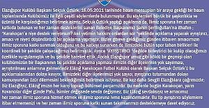 SELÇUK ÖZTÜRKÜ KINIYORUZ!